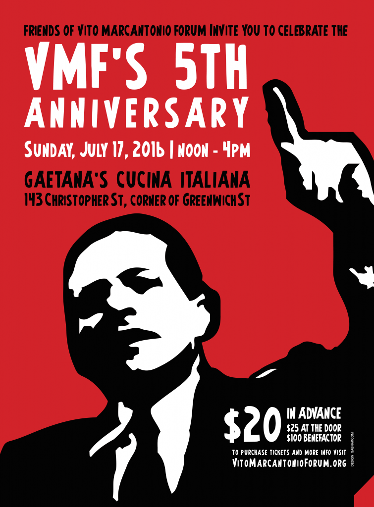 FRIENDS OF THE VITO MARCANTONIO FORUM 5TH ANNIVERSARY AND FUNDRAISER